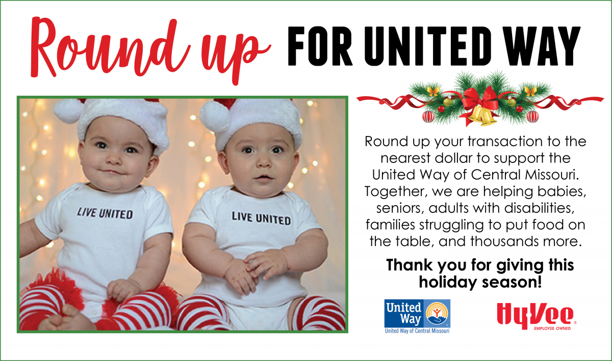 hy vee round up for united way - Hyvee Christmas Eve Hours